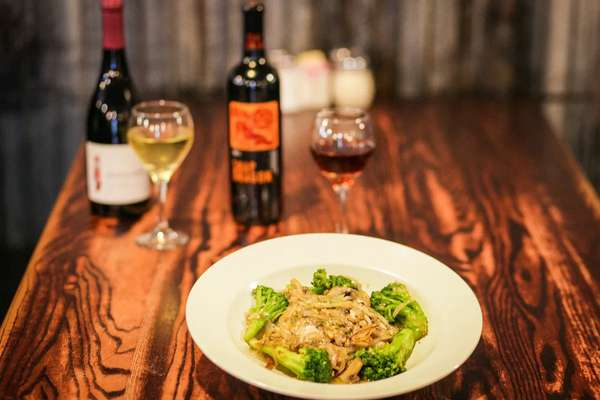 Food with wine