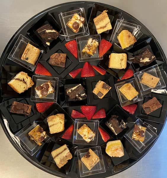 dessert platter with strawberries