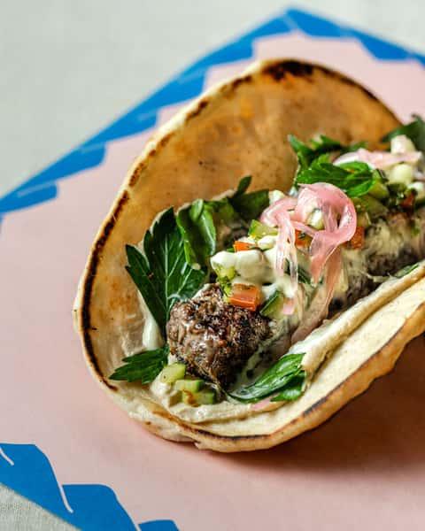 Beef Kefta Kebab Pita Wrap