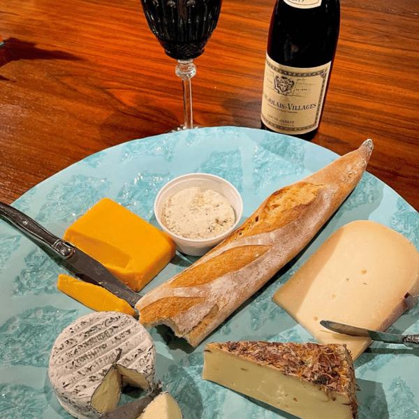 Bread, wine & cheese