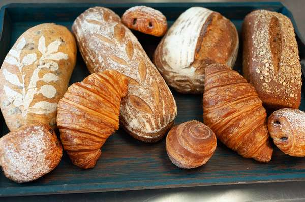 bread and croissants