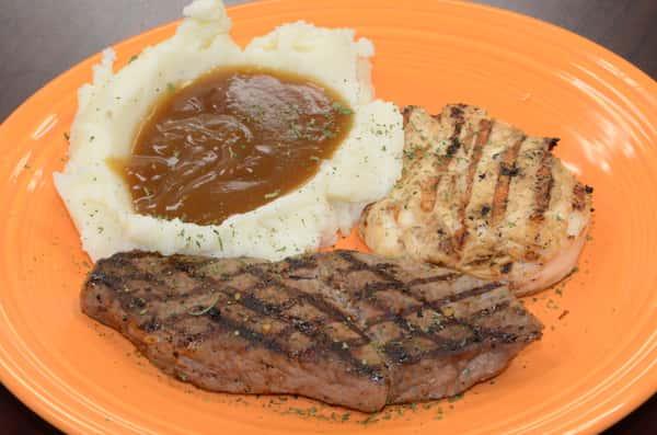 *Steak & Chicken Combo