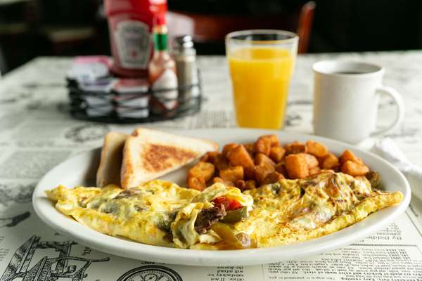Steak and Cheese Omelette