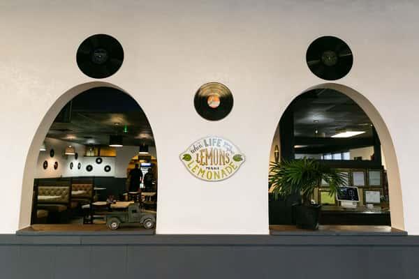 Interior Muggs Diner arches