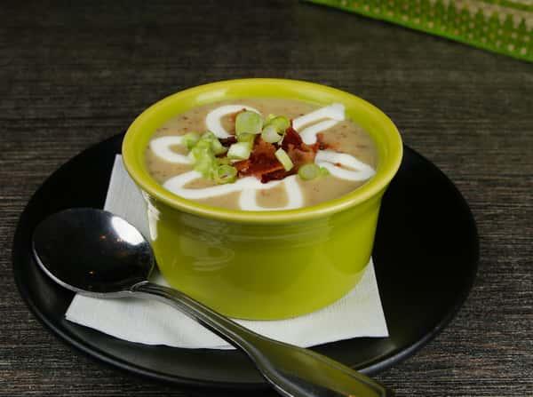 Roasted Jalapeño Potato Soup