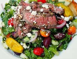 Ribeye Angus Steak Salad and Avocado