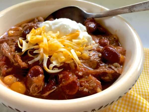 Cup Tri Tip Chili Beans