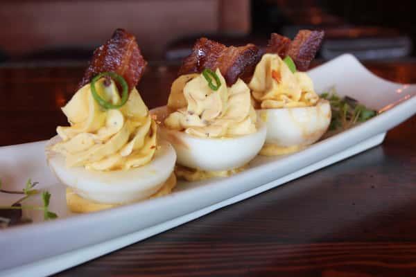 Hickory Smokin' Deviled Eggs