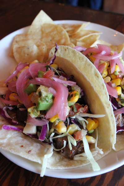 Tex Mex Smoked Brisket Tacos