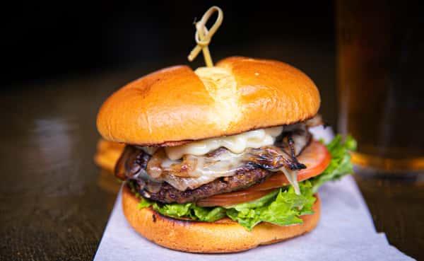 Mushroom Onion Swiss Burger