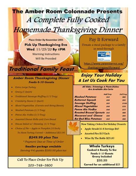 Thanksgiving menu
