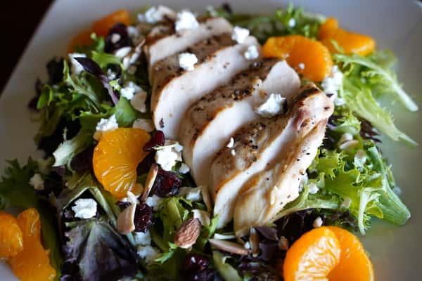 salad with oranges