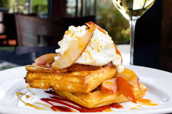 Poached Pear Waffle