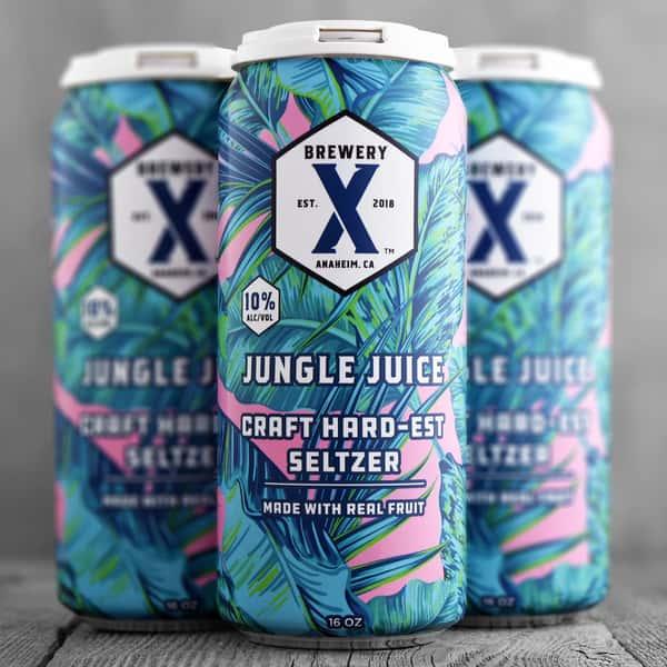 Jungle Juice Hard-EST Seltzer- Brewery X - 10% Can