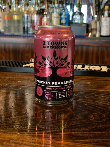 Prickly Pear Cider- 2 Towns 5.3% 12oz can