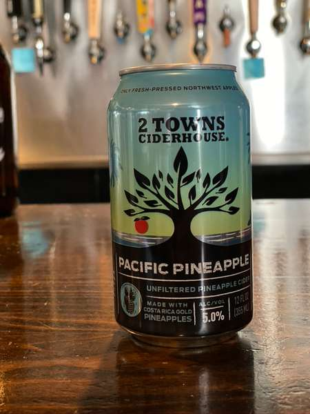 Pacific Pineapple Cider- 2 Towns- 5% 12oz can