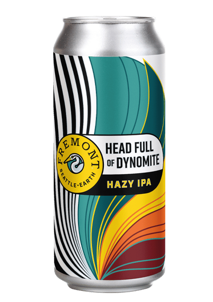Head full of Dynomite Hazy IPA- Fremont Brewery- 6.8 % Can