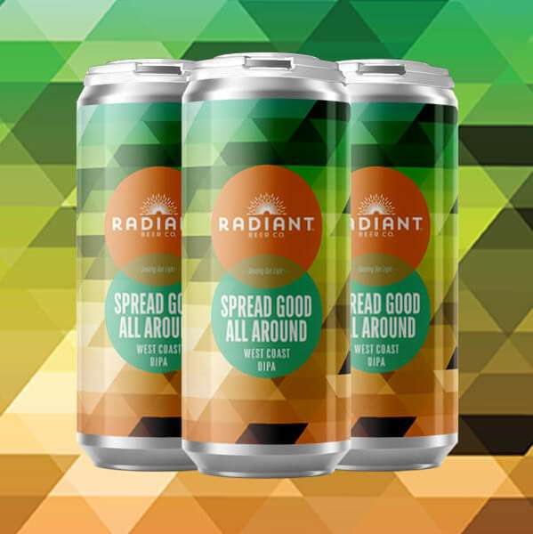 Spread Good All Around DIPA - Radiant Beer Co.- 8.6% 12 oz Draft
