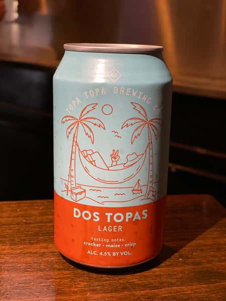 Dos Topas Lager - Topa Topa Brewing - 4.5% 12oz can