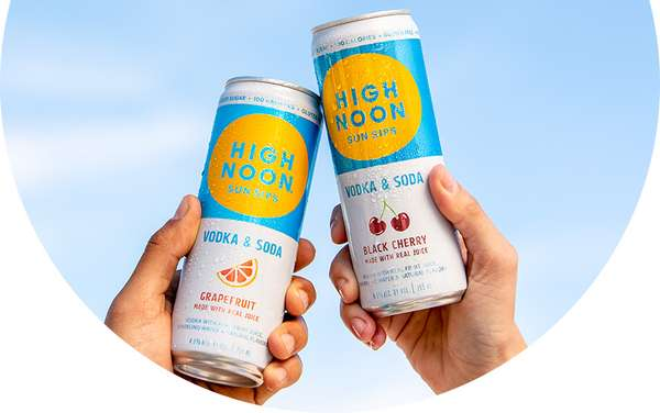 High Noon Sun Sips *Vodka & Soda* Seltzer- 4.5% Can