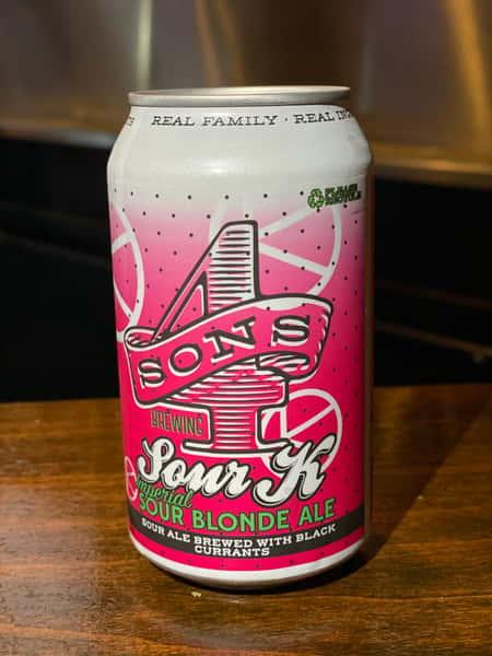 """""""Sour K"""" Imperial Sour Blonde Ale- 4 SON'S Brewing - 7.9% 12oz"""