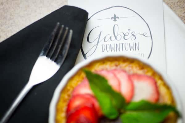 Gabe's Creme Brulee and menu
