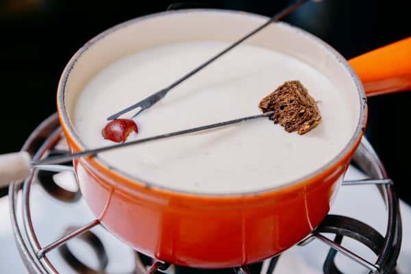 cheese fondue setup