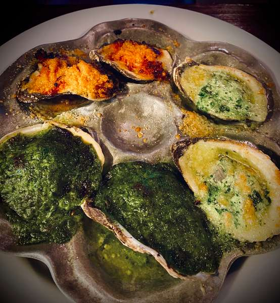 Roasted Blue Point Oysters