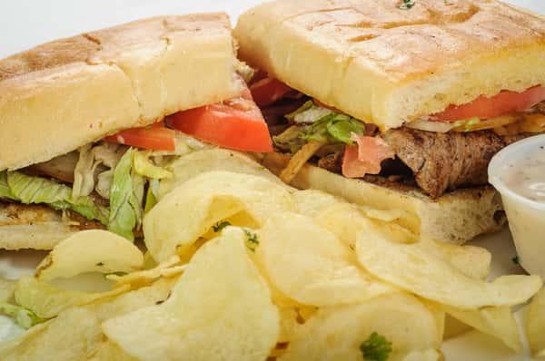 Spanish Steak Sandwich
