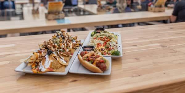Hot Dog and Nachos