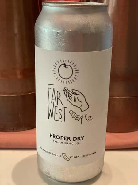 "Far West Cider Co. ""Proper Dry""Cider,(500ml) 6.9% Richmond, CA"