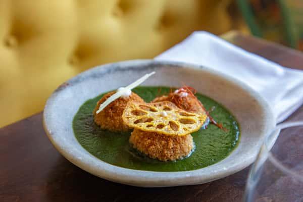 Vegetable & Fava Dumpling
