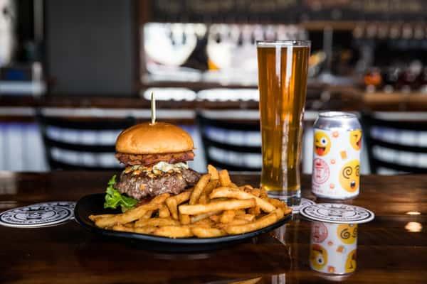 Bacon Blue Balls Burger