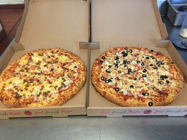 two pizzas to go