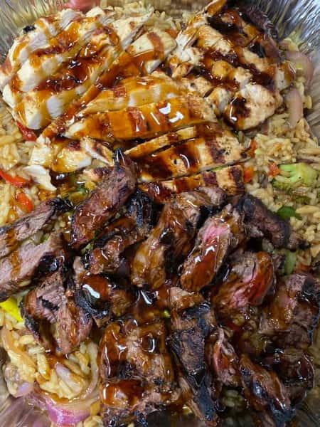 Chicken and Steak Stir Fry