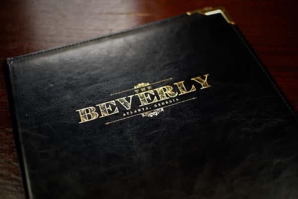 Menus at The Beverly Atlanta