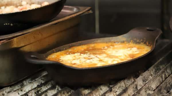 food in pan