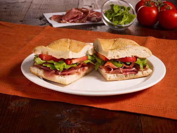 fresh ciabatta bread sandwiches