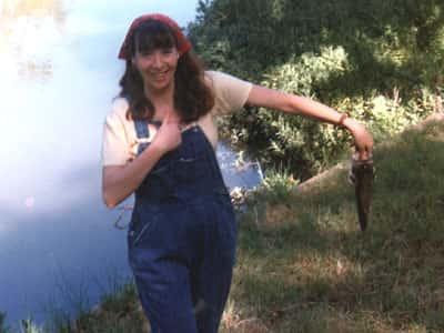 woman holding fish