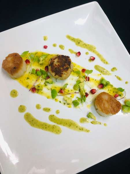 Scallop and Crab Cake