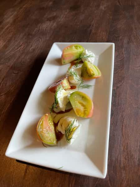 Fresh Heirloom Tomato and Burrata