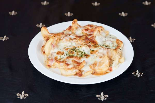 Cajun Cheese Fries with Crawfish Etouffee