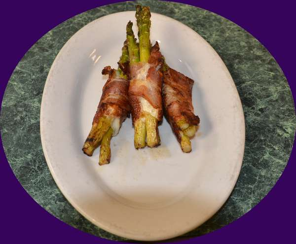 Bacon & Provolone Wrapped Asparagus