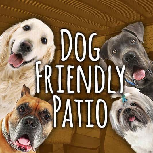 dog friendly patio sign