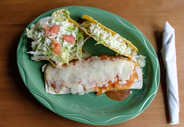 2. Beef taco, beef burrito and chalupa