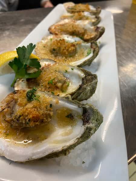 Half Dozen Grilled Gulf Oysters