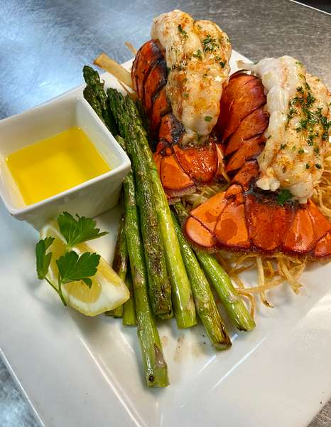 Broiled (2) 5oz Double Tail Lobster