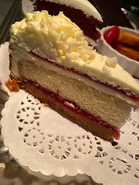 Layered Raspberry and Lemon Cheesecake
