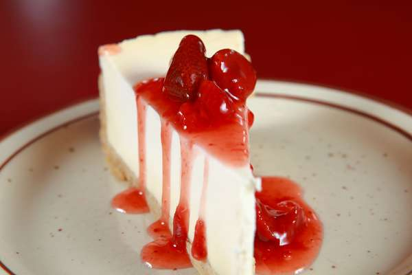 Cheesecake with Strawberry Topping