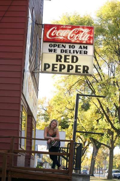 red pepper sign